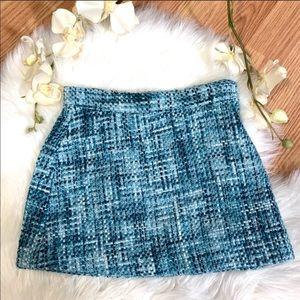 Janie & Jack Teal Tweed Skirt 2T